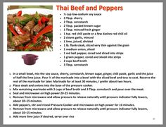 Thai Beef and Peppers Tupperware Pressure Cooker Recipes, Microwave Pressure Cooker, Tupperware Recipes, Easy Pressure Cooker Recipes, Pressure Cooking, K Food, Recipe T, Low Sodium Soy Sauce, Dessert For Dinner