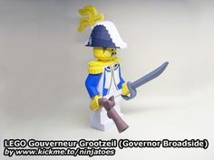 LEGO Gouverneur Grootzeil (Governor Broadside) papercraft, as well as a few others Legos, Free Paper Models, Lego Games, Pirate Theme, Lego Pieces, Lego Brick, Paper Toys, Crafty, 2013