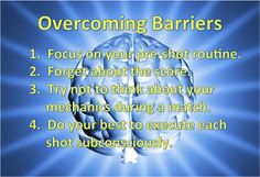 Overcoming Mental Barriers | Pool Cues and Billiards Supplies at PoolDawg.com