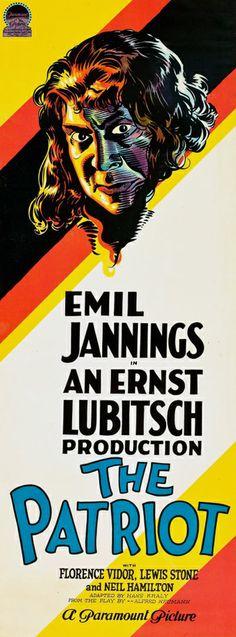 "2/18/14 7:47p ""The Patriot""   Nominated for Best Picture 1928-29  Best Actor Lewis Stone  Best Director Ernst Lubitsch Won  Best Writing  Oscar Hans Kraly.   1928"