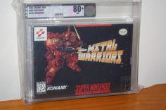 Metal Warriors (SNES Super Nintendo) NEW SEALED RARE VGA 80 !