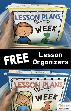 FREE Lesson organizers - teacher organization printables for copies and papers