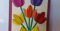 Usa papel de color para crear toda clase de tarjetas con flores especialmente para ocasiones especiales para el día de las madres. Son muy s...