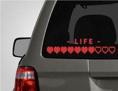 Life Heart Meter Car Decal