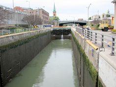 Lock at Eire Canal Lockport NY 1467