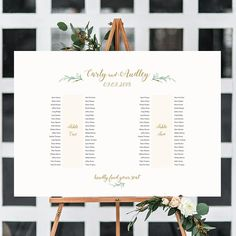 """2 Banquet Table Seating Plan - 2 Long Tables, Printable Banquet Table Plan """"Greenery"""" 24x36"""" and A1 sizes included Edit in ACROBAT"""