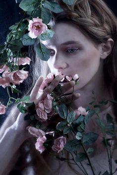 Leila Goldkuhl by Melissa Harrison #story #fairytale #magic #darkness #princess #evil #dream #goddess #roses #romantic #braid