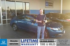 Congratulations to Kyle Steffy on your #Honda #Civic purchase from Richard Magnotti at Honda of Denton! #NewCar