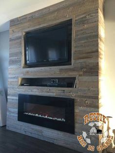 Most current No Cost full wall Fireplace Remodel Suggestions If your room has a fireplace, it is often the focal point of the room. Update the fireplace with con Fireplace Tv Wall, Basement Fireplace, Fireplace Inserts, Fireplace Remodel, Fireplace Surrounds, Fireplace Design, Fireplace Mantels, Wall Fireplaces, Fireplace Ideas