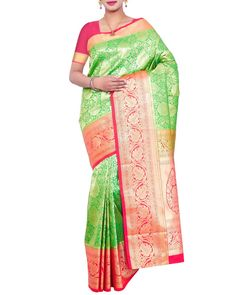 b5eb7beb431120 Look Stylish Like A Diva As You Deck Up This Kanjivaram Silk Saree  Exclusively From Simaaya