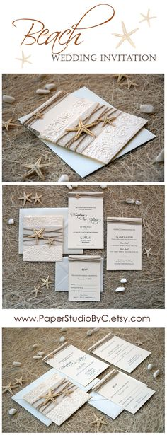 This summer inspire us for a beach wedding invitation. Do you like this one?