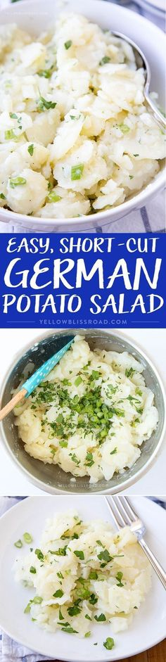 Easy, Short-Cut German Potato Salad - an oil and vinegar based potato salad that's a great side dish for just about anything!