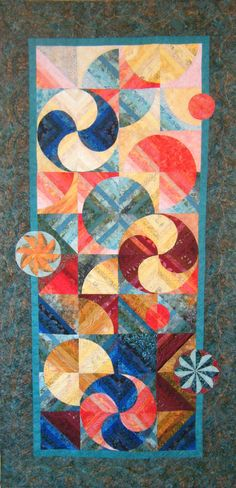 Spinning Spirals Wall Quilt by derstinedesigns on Etsy