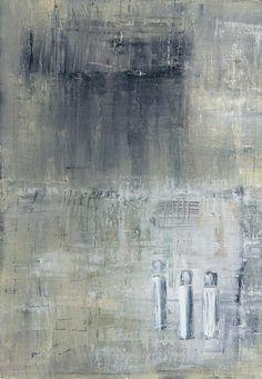 """De evige tre""  Acrylic Painting by Anitta Jonas  50 x 70"