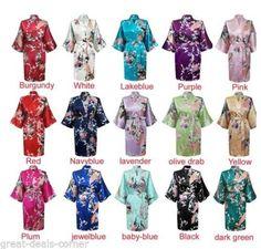 Set of 7 8 9 Kimono Floral Bridesmaid Robes Satin Silk Dressing Gown Wedding Robe gowns, bride robe, wedding party robes, satin robe, kimono. Kimono Floral, Ladies Satin Pyjamas, Style Kimono, Bridal Party Robes, Bride Gowns, Bridesmaid Robes, Bridesmaid Luncheon, Geisha, Cosplay
