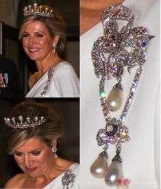 Yesterday, Queen Maxima surprised us with beautiful jewels from the Orange Nassau vault. Seen in Amsterdam, during the annual Crops… Royal Crown Jewels, Royal Crowns, Royal Tiaras, Tiaras And Crowns, Jewelry King, Royal Jewelry, Hair Jewelry, Dutch Queen, Diamond Tiara