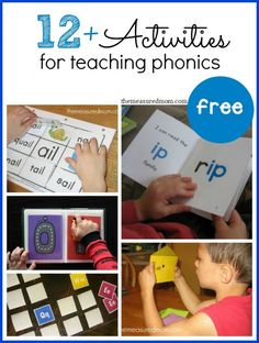 So many great phonics games and activities!  Teach beginning blends, word families, letter sounds, and more!