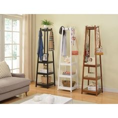 Shop for Vassen Coat Rack w/ 3-Tier Storage Shelves. Get free shipping at Overstock.com - Your Online Home Decor Outlet Store! Get 5% in rewards with Club O!