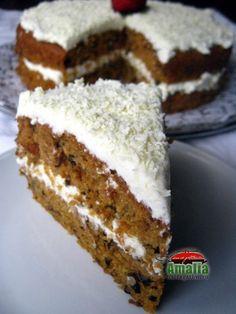 Tort de morcovi (Tort de morcovi 0) imagine reteta Tiramisu, Banana Bread, Biscuits, Cheesecake, Pie, Sweets, Cookies, Ethnic Recipes, Cupcake