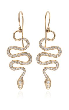 Black Mamba Earrings by Ileana Makri for Preorder on Moda Operandi