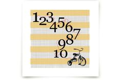 Trike one to ten by Jennifer Cooper at minted.com