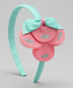 Take a look at this Delightfully Preppy Kids Pink & Turquoise Petal Headband by Vintage Chic: Headbands & Clips on #zulily today!