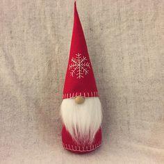 Christmas Gnome Swedish Tomte Nisse Felt Doll by ShopUrbanDesign