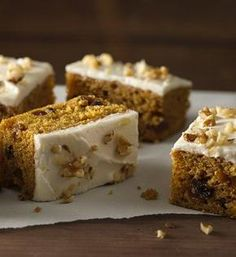 Harvest Pumpkin-Spice Bars. You'll fall in love with these pumpkin bars!  They have a light texture, are full of cinnamon, ginger, raisins and nuts and are to...