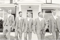 The Groom and his men at Eighteen Ninety. Wedding and reception venue in Kansas City, Missouri. Photo by Elizabeth Ladean Photography.