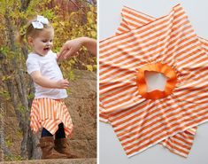 Double layer Square Circle Skirt...adorable. well make a few for little girl later...maybe dress up box.