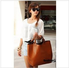 SALE!!! Women leather handbag 2013 leather fashion big bag messenger bags shoulder bag $19.99