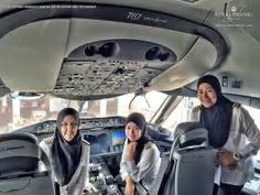 Royal Brunei Airlines' first all-female pilot crew lands plane in Saudi Arabia - where women are ...
