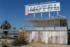 """Salton City was developed in the and bordered the Salton Sea, """"a saline, endorheic rift lake located directly on the San Andreas Fault. Images Of California, Haunted Images, San Andreas Fault, Salton Sea, Haunting Photos, Historical Landmarks, Old Buildings, Culture Travel, New Adventures"""