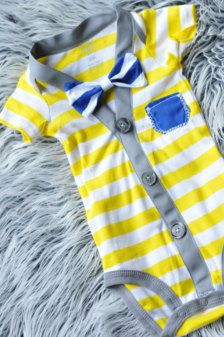 Items similar to Yellow striped preppy super cute Cardigan baby boy onesie  with pocket. so bright and fun little hipster baby on Etsy 174eefc3b1d3
