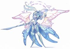 commission - overlord by drachenmagier on DeviantArt Fantasy Character Design, Character Design Inspiration, Character Concept, Character Art, Concept Art, Magical Creatures, Fantasy Creatures, Mystique, Creature Concept