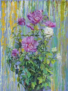 Streams of Living Water: Whoever believes in me, as the Scripture has said, streams of living water will flow from within him. John 7:37, 38 #home #decor #art #christian #god #Rose #Sharon #Flower #painting