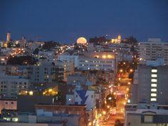 moon on the city.