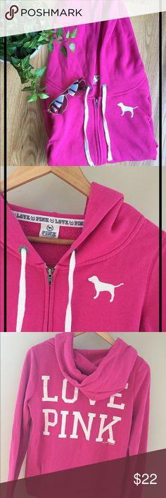 PINK Victoria's Secret zip up sweatshirt Long sleeve, very comfortable, 60% cotton 40% polyester PINK Victoria's Secret Tops Sweatshirts & Hoodies