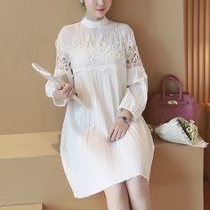 Product Name: T3647 Crochet Pleated Swing Dress Click On Link To View This Product : http://gurusing.sg/shop/womens-fashion/t3647-crochet-pleated-swing-dress. We Have Publish More Products And Special Offer Are Going On Our Website GuruSing. Hurry Enjoy Up To 80% Discounts......