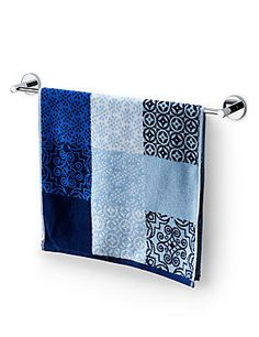 Blue Mix Multi Tile Print Towel