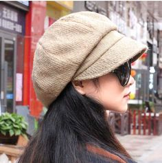 butterfly newsboy cap for women casual warm winter hat