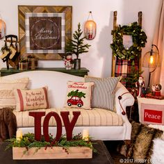 Celebrate the most wonderful time of the year with cozy Christmas decor. The Heartland Holiday collection mixes traditional and rustic elements for that home-for-the-holidays feel!