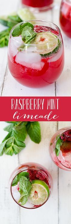 Raspberry Mint Limeade! A refreshing drink perfect for summer! Vegan, gluten-free and low-sugar. | http://www.delishknowledge.com