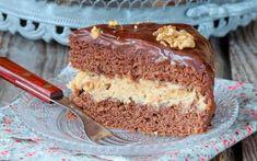 Κέικ γεμιστό με κρέμα και επικάλυψη σοκολάτας   Συνταγές - Sintayes.gr Banana Bread, Food And Drink, Sweets, Candy, Chocolate, Desserts, Coffee, Tailgate Desserts, Kaffee