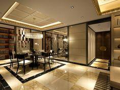 service apartment interior design_luxury Peninsula scheme_ 3