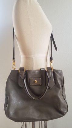 Marc by Marc Jacobs Gray Leather Bag Detachable Shoulder Strap
