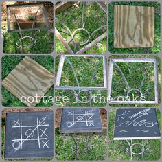 chalkboard tables #diy
