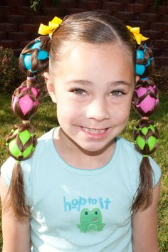 crazy hair day  : A Little Something EGGstra  So cute! I could never do this but love it.