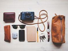 supertrampings: What's in my bag by Benjamin Bergh on Flickr.