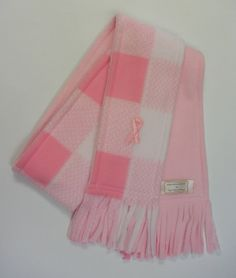 Breast Cancer Awareness Fleece Scarf